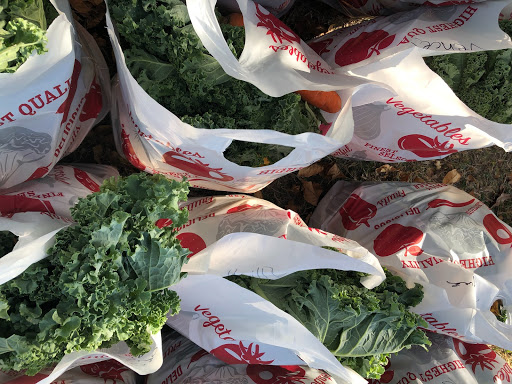 Bags of leafy food